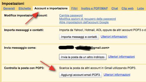impostare hotmail su gmail