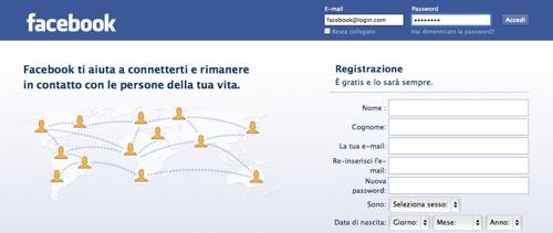 risoluzione problemi facebook login